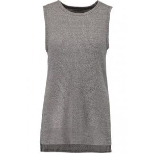 Enza Costa Ribbed Knit Tank in Gray